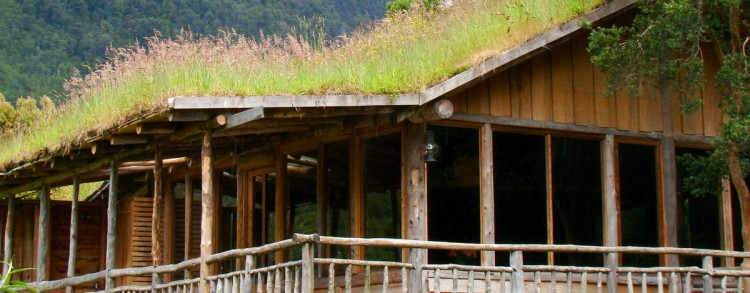 Cabañas con techo vivo